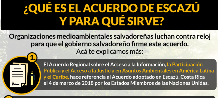 Photo of El Salvador contra el tiempo para firmar y ratificar el Acuerdo de Escazú